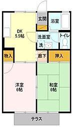 埼玉県朝霞市根岸台8丁目の賃貸アパートの間取り