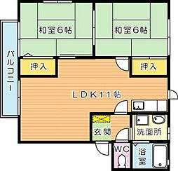 ガーデンプレイス B棟[2階]の間取り