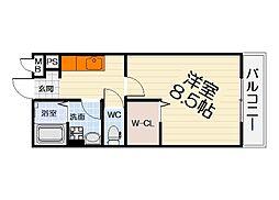大阪府堺市西区鳳東町2丁の賃貸アパートの間取り