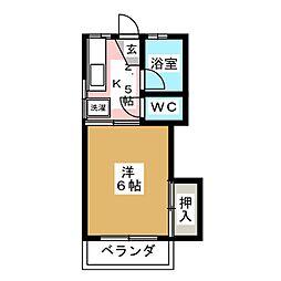 千葉アパート[1階]の間取り