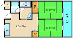 シャンボール東大阪[4階]の間取り
