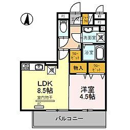 和歌山県和歌山市湊の賃貸アパートの間取り