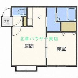 北海道札幌市東区伏古十条1丁目の賃貸アパートの間取り