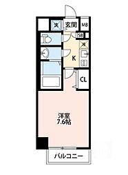 ウインズコート江坂東[8階]の間取り
