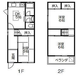 [テラスハウス] 大阪府堺市西区浜寺諏訪森町西1丁 の賃貸【/】の間取り