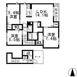 (仮称)東大阪市日下町PJ[203号室号室]の間取り
