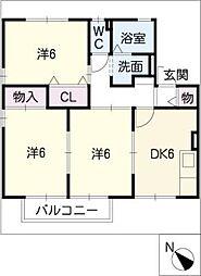 プルミエ浄水 A棟[1階]の間取り