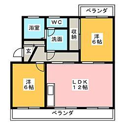 ピュアセゾン[1階]の間取り