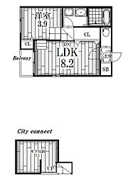 Bonnyvilla[1階]の間取り