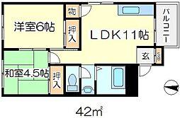 ふじマンション[2階]の間取り