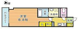 THE SQUARE・Club Residence (ザ・ス[8階]の間取り