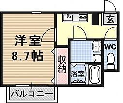 メディオ草津[102号室号室]の間取り