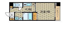 兵庫県神戸市須磨区大黒町2丁目の賃貸マンションの間取り