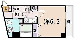 Celeb布施東[10階]の間取り