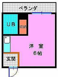 トモエハイツ6号館[2階]の間取り