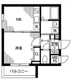 東京都新宿区西新宿8丁目の賃貸マンションの間取り