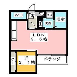 Grandtic Luce栄生[1階]の間取り