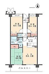 フラット渋谷第一マンション[602号室]の間取り