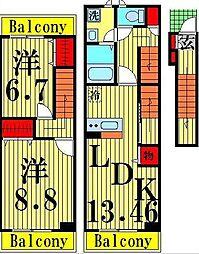 桜 115 HOMES[3階]の間取り