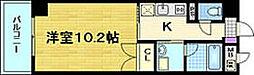 エリーフラッツ京町[9階]の間取り