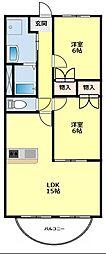 愛知県豊田市朝日ケ丘1丁目の賃貸マンションの間取り