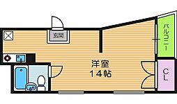 北田辺ビル[3階]の間取り