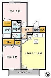 サンコート3番館[1階]の間取り