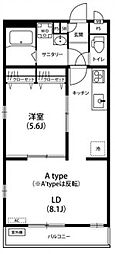 神奈川県川崎市中原区今井仲町の賃貸マンションの間取り