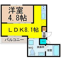 HK2 east(エイチケーツーイースト)[2階]の間取り