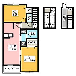 サンモリッツ[3階]の間取り