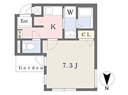 モレス・ヴィラ西宮北口 3階1Kの間取り