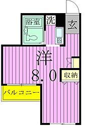 ベルトピア松戸第08[204号室]の間取り