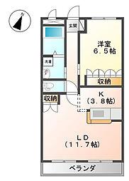 神奈川県伊勢原市高森の賃貸マンションの間取り