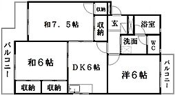 ファミールマンション[2階]の間取り