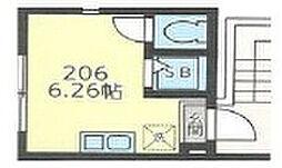 グラード氷川台II[206号室]の間取り