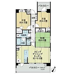 ライオンズマンション新浦安ベイマークス[6階]の間取り