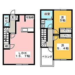 [テラスハウス] 愛知県稲沢市平和町西光坊新町 の賃貸【/】の間取り