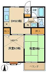 東京都調布市国領町7丁目の賃貸アパートの間取り