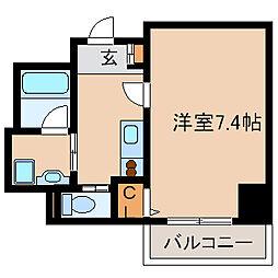 リエス尼崎東[6階]の間取り