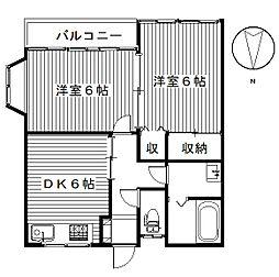 五番街A[1階]の間取り