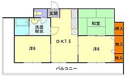 板倉第一ビル[305号室]の間取り