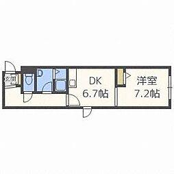 サンライズ札幌[1階]の間取り