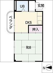 緑地園マンション[1階]の間取り