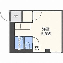 T-ROUTE菊水(ティールートキクスイ)[2階]の間取り
