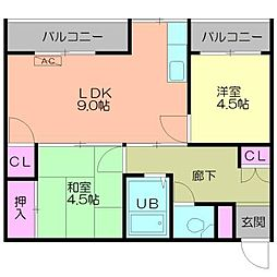 新横浜マンション[503号室号室]の間取り