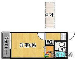 福岡県福岡市東区和白丘1丁目の賃貸アパートの間取り