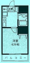 リエス武蔵中原[2階]の間取り
