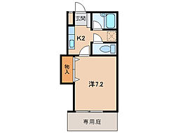 リヴェールコート[1階]の間取り