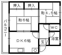 サイトウアパート[108号室]の間取り