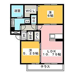 仮)D−room半田市大高町A棟[2階]の間取り